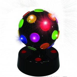 "Rotating Multi-colored LED Disco Ball Light for Party (4"", ..."