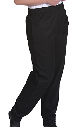 Edwards Basic Baggy Chef Pant, BLACK, 6XLarge