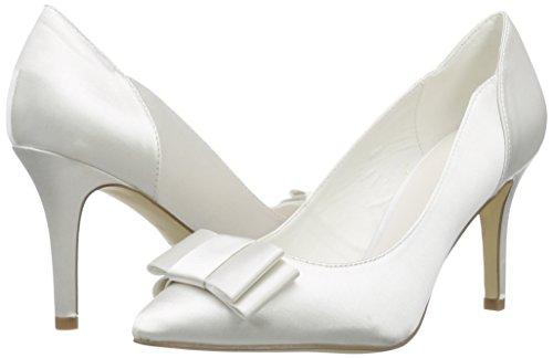 Tacón De Cerrados Mujer Wedding Elfenbein Raso Zapatos ivory Marfil Natalia Menbur wgS4qI