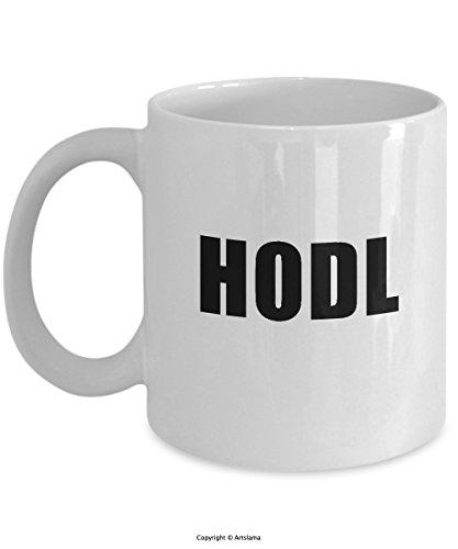 HODL Funny Hold Meme Coffee Mug 11oz by Artslama ()