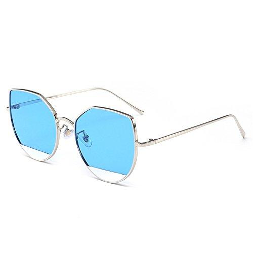 calidad europeas de alta de de Gafas gafas 55m A de m sol y la reflexivas sol personalidad gato americanas del 147 multicoloras de 140 NIFG ojo HZRpXqwX