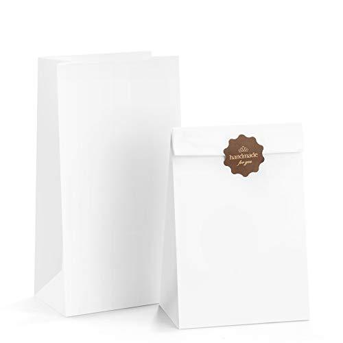 White Luminary Bags Bulk - BagDream Paper Lunch Bags 6lb 100Pcs