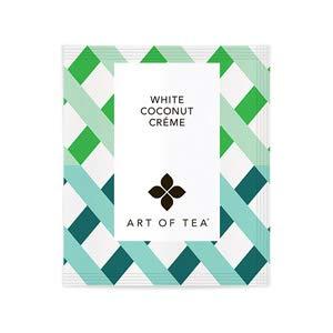 (Art of Tea White Coconut Creme Tea Bags 50 Ct. Bulk Pyramid Tea Bags)