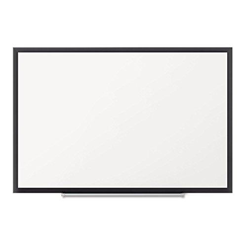 Quartet Dry Erase Board, Whiteboard / White Board, Magnetic, 6' x 4', Black Aluminum Frame (SM537B) by Quartet