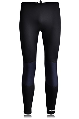 REALON Wetsuit Women Pants 3mm Neoprene Men Long Tights XSPAN Surf Leggings for Diving Surfing Swimming(Black M) (Ladies Winter Wetsuit)