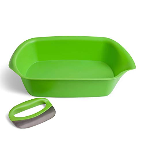 Salad Chopper Set with Mezzaluna Knife and Chopping Tray by messless