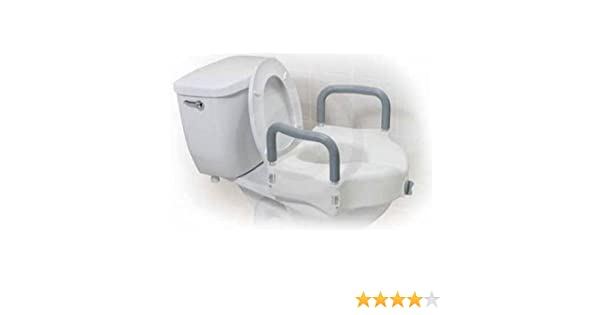 Wondrous Drive Medical Raised Toilet Seat With Tool Free Removable Arms Pdpeps Interior Chair Design Pdpepsorg