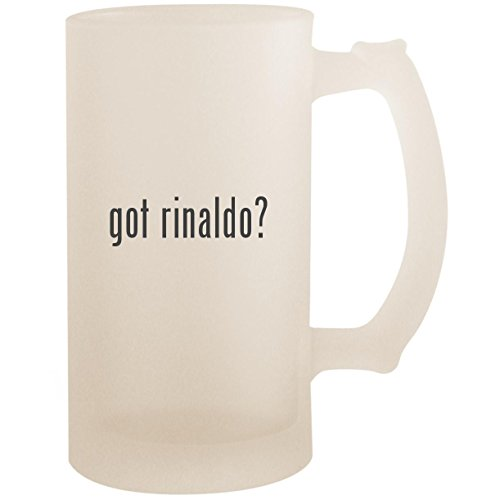(got rinaldo? - 16oz Glass Frosted Beer Stein Mug, Frosted)