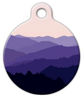 Mountain Landscape - Custom Pet ID Tag for Cats and Dogs - Dog Tag Art - SMALL SIZE by Dog Tag Art (Image #4)