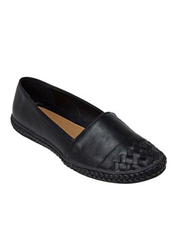 Comfortview Womens Wide Arielle Flats Zwart