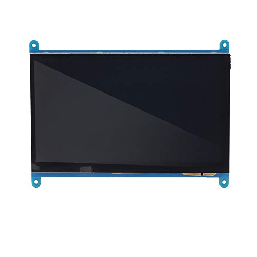 Akozon 1pc 7-Inch 800x480 LCD Display Monitor HDMI Module with Capacitive Touchscreen for Raspberry Pi 3/2/1 by Akozon