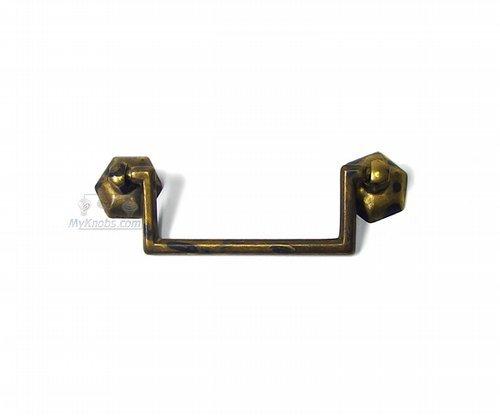 (Cabinet Drop Ball Pull Handle Classic Antique Brass Dark 2 1/2