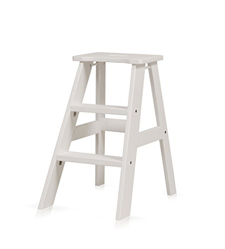 Price comparison product image Bella Esprit Solid Wood Step Stool with Keyhole Handle - White Finish