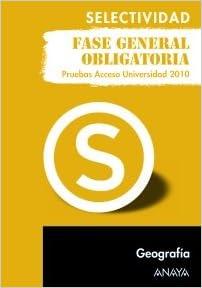 Geografía. Fase general obligatoria. Selectividad/PAU 2010: Amazon.es: Muñoz-Delgado y Mérida, Mª Concepción: Libros
