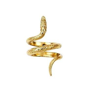 e477c22f174 HELLES PARIS Bague Serpent - Or  Amazon.fr  Bijoux