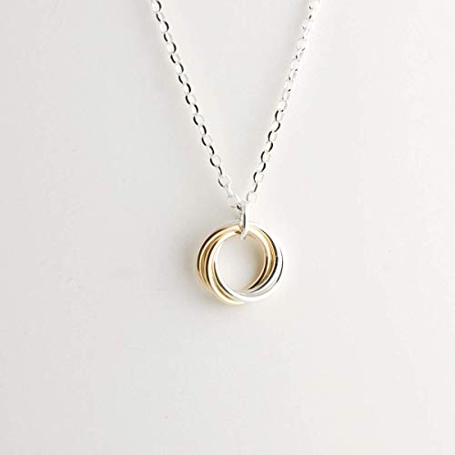Infinity Knot Necklace - Infinity Love Knot Necklace - Sterling & Gold Fill