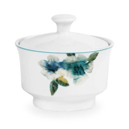 Mikasa Paradise Bloom Covered Sugar Bowl, 4.25-Inch