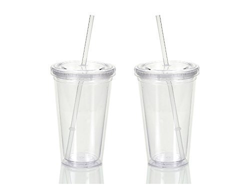 16 oz tumbler with lid and straw - 2
