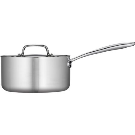 Tramontina 3-Qt Tri-Ply Clad Sauce Pan with Lid, Stainless Steel //Color: Silver