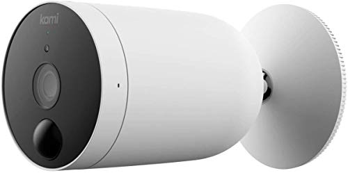 Kami Wireless Outdoor Security Camera, 1080P Wire-Free Battery-Powered Home Surveillance System with PIR Motion Sensor, Night Vision, Alerts, kami/YI Home App, Works with Alexa and Google Assistant