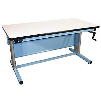 (Pro-Line EL6030P/L14 Ergo-Line Model Workbench with Plastic Laminate, Light Blue Frame)