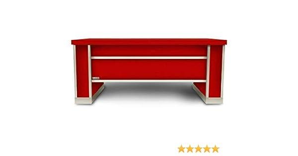 SevenOne Mesa Extensible y Elevable Lacada Rojo (Roja)