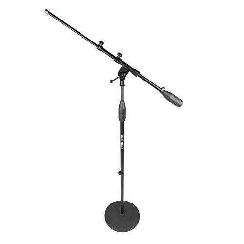Hola! Music HPS-101RB Professional Microphone Mic Stand with Round Base, Black