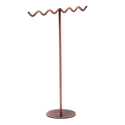 JETEHO Modern Style T-Shape Metal Jewelry Display Stand Jewelry Tree for Earring Necklaces Ring ()