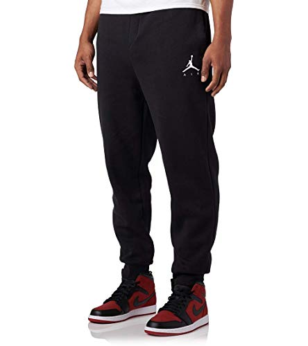 Jordan Jumpman Air Men's Fleece Pants (Black/White, L)