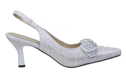 Blanc Femme Sandales JohnFashion Pour John Fashion Za7nxFFw