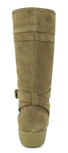 Coach Womens Tallulah Caramel Shearling Lined Suede Boots 9.5 B(M), Style A8804
