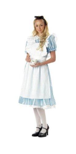Wonderland Adult Alice In Costumes Classic (Classic Alice in Wonderland Adult Costume -)