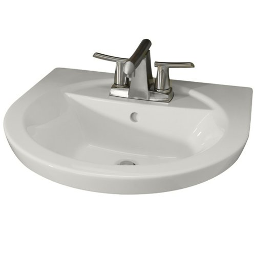 American Standard 0403.004.020 Tropic Petite 4-Inch Center Faucet Holes Pedestal Basin, White