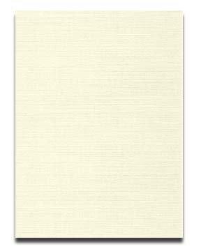 Neenah CLASSIC LINEN 8.5 x 11 Card Stock - Classic Natural White - 80lb Cover - 250 PK - Neenah Classic Linen Natural