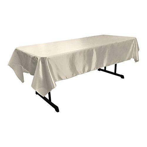 LA Linen Bridal Satin Rectangular Tablecloth, 60 by 102-Inch, - Satin Wholesale Bridal