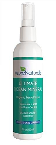 ULTIMATE OCEAN Mineral Organic Facial Toner, 90+ Ocean Minerals, Blue Green Algae + Irish Moss + Kelp Will Brighten & Hydrate Your Skin Giving You a Beautiful, Youthful Looking Glow! ()