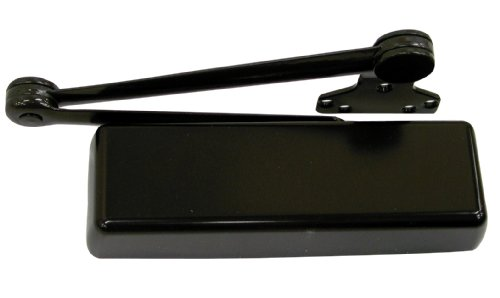 - LCN 4110 Heavy Duty Door Closer, Dark Bronze Powder Coat Finished, Cast Iron, Left-Handed, Extra Duty Arm