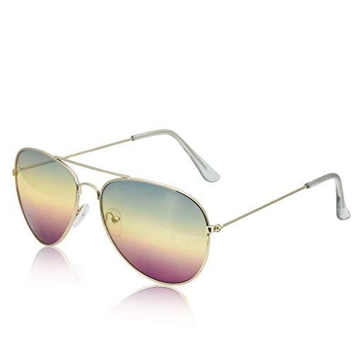 60's Glasses 80's 60s Sunglasses Round Thin Wire Rim Frames Ombre Gradient