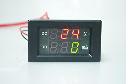 SMAKN® Digital Voltage Current Panel Meter 0-600V / 999mA Ammeter Voltmeter Amps Gauge Volts LCD Dual Display