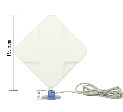 2.4G LTE 36dBi High Gain Network Antenna 2.4G indoor Signal Booster Receiver Amplifier with SMA male connector plugs