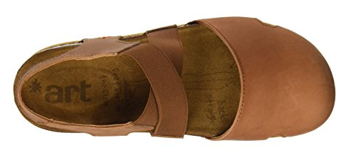 Cuero We Art 0878 Closed Women's Olio Company The Walk Brown Toe Sandals rXRnq4XPS