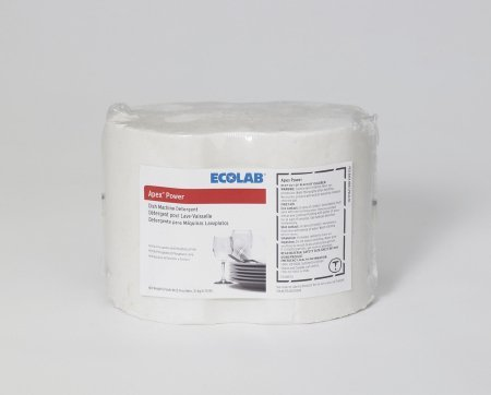Ecolab 17062 Apex Solid Power Dish Detergent, Commercial-Strength Chlorinated Detergent Stops Contamination (6/cs)