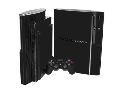 Sony PlayStation 3 Skin (PS3) - NEW - MATTE BLACK system skins faceplate decal mod by System Skins