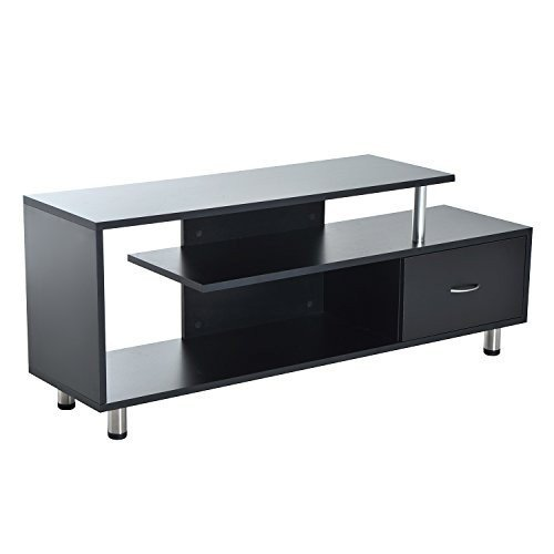 TV Stand Flat Screen With Drawer And Open Shelf Entertainment Center and Display Unit Durable With Ebook