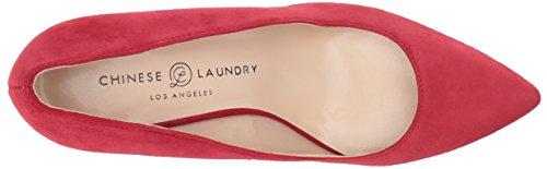Chinese Laundry Kvinna Ruthy Klänning Pump Röda Mocka