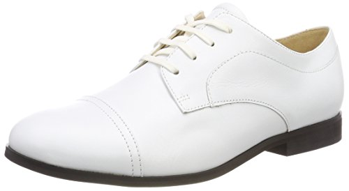 Jil Sander Damen Iconic Derbys Weiß (Bianco)