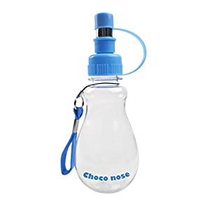 Choco Nose H258 Modern Pet Portable Water Bottle, Small-sized Dog (Up to 12 lb), Cat, Rabbit, Small Animal Travel Drinker, BPA Free, No Drip, 8 Oz. Nozzle Diameter: 16mm (Baby Blue)