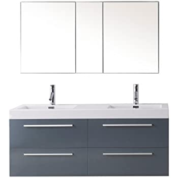 54 inch vanity double sink. Virtu USA JD 50754 GR Modern 54 Inch Double Sink Bathroom Vanity Set With  Polished Chrome Faucet Grey PL Finley