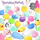 UMIKU 28PCS Mochi Squishy Toys Random Mini Squishy Animal Squishy Party Favors for Kids Squeeze Toys Cat Unicon Squishy Stress Relief Toys for Adults Easter Egg Fillers Easter Gifts for Boys Girls ()