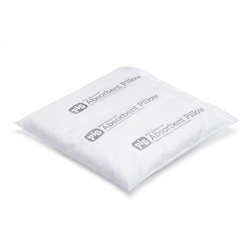 New Pig Skimmer Oil-Only Absorbent Pillow, 1/2 Gal Absorbency, Absorbs Oil-Based Liquids, Repels Water, 12